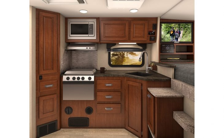 Lance 995 truck camper kitchenette.