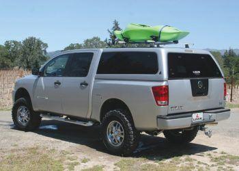 Silver Leer Camper Shell on Truck