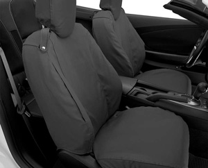 vehicle seats equipped with seat covers