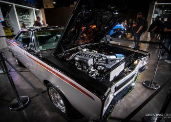 SEMA show custom restored car