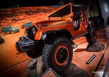 SEMA show custom off road vehicle orange