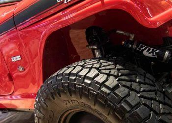 SEAM show custom red jeep