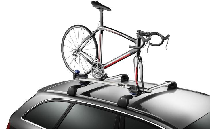 Thule fork mounted rooftop bike rack