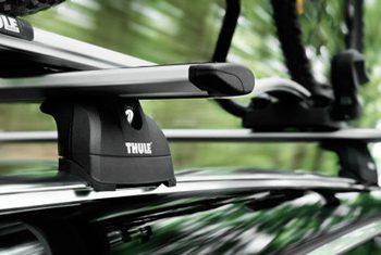 Vehicle mounted roof rack.