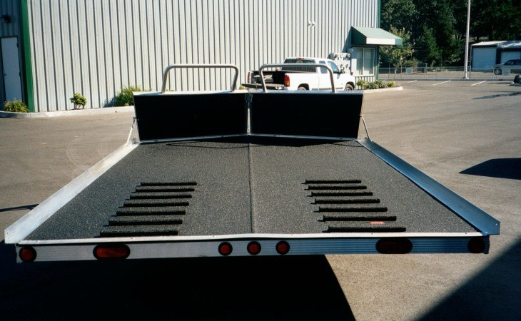 SPI Spray on Bedliner on Snowmobile Trailer
